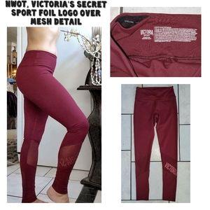 LN, Victorias secret sport foil logo mesh leggings